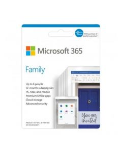Microsoft 365 Family 32/64-Bit untuk 6PC/MAC + Tab   1 year - Posa